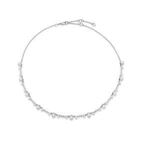 Orbs Pearl & Sterling Silver Necklace-