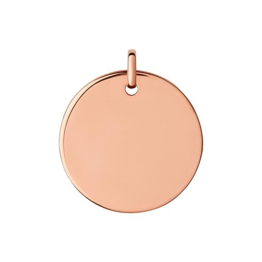Narrative Μεγάλο ασημένιο στρογγυλό μενταγιόν με ροζ επιχρύσωση 18 καρατίων-