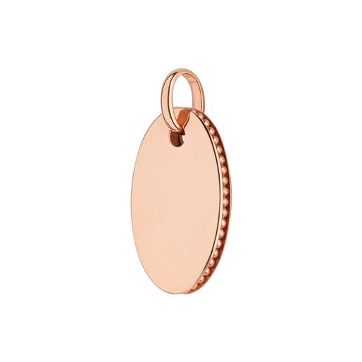 Narrative 18kt rose gold-vermeil oval disc pendant-