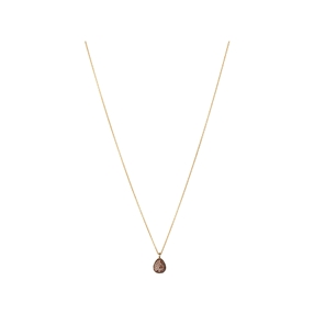 Hope 18kt Yellow Gold & Cognac Diamond Necklace-