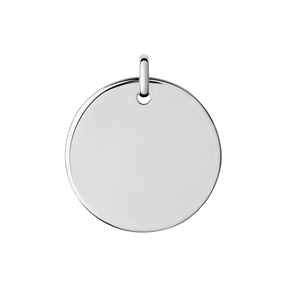 Narrative Sterling Silver Large Round Disc Pendant-