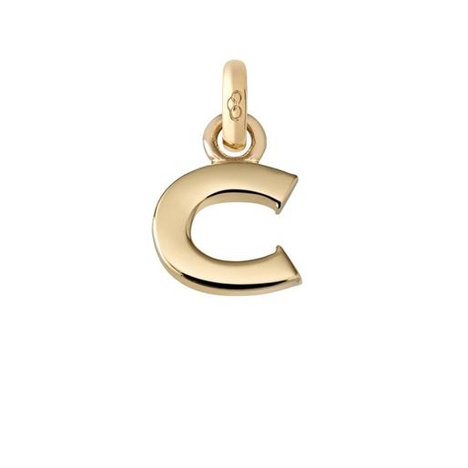 Χρυσό Charm 18 καρατίων με το γράμμα C-