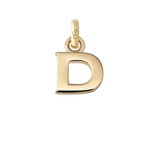 Χρυσό Charm 18 καρατίων με το γράμμα D-