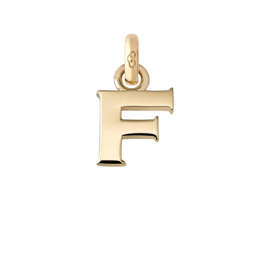 18kt Yellow Gold F Letter Charm-