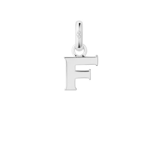 Charm Ασημένιο με το γράμμα F-