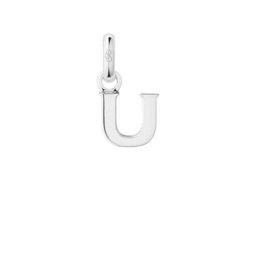 Charm Ασημένιο με το γράμμα U-