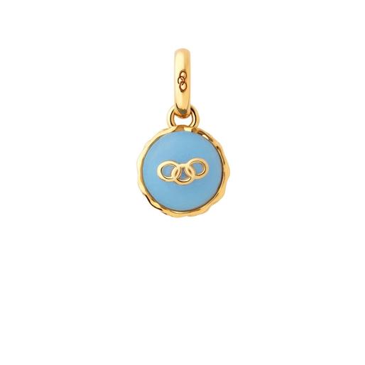 18kt Yellow Gold Vermeil Blueberry Macaron Charm-