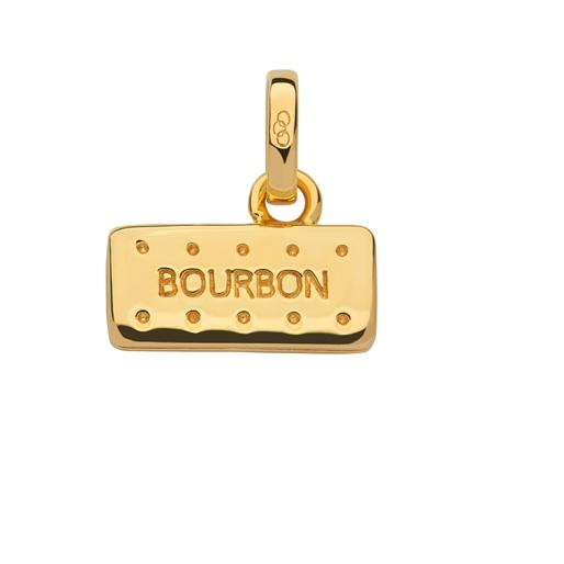 18kt Yellow Gold Vermeil Bourbon Biscuit Charm-