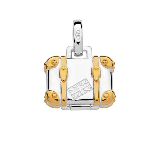Charm Βαλίτσα από ασήμι με επιχρύσωση 18 καρατίων-