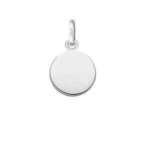 Sterling Silver Disc Charm-