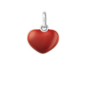 Sterling Silver Red Heart Charm-