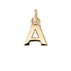 Χρυσό Charm 18 καρατίων με το γράμμα Α-