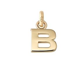 Χρυσό Charm 18 καρατίων με το γράμμα B-