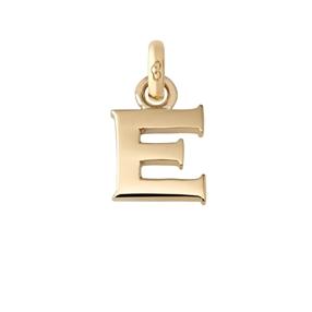 Χρυσό Charm 18 καρατίων με το γράμμα E-