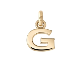 Χρυσό Charm 18 καρατίων με το γράμμα G-