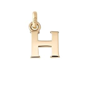 Χρυσό Charm 18 καρατίων με το γράμμα H-