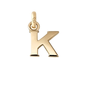 Χρυσό Charm 18 καρατίων με το γράμμα K-
