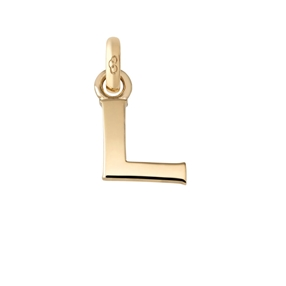 18kt Yellow Gold L Letter Charm-