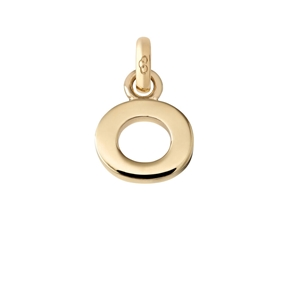 Χρυσό Charm 18 καρατίων με το γράμμα O-