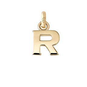 Χρυσό Charm 18 καρατίων με το γράμμα R-