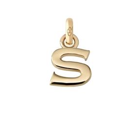Χρυσό Charm 18 καρατίων με το γράμμα S-