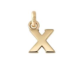 Χρυσό Charm 18 καρατίων με το γράμμα X-