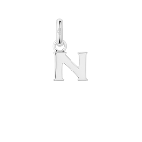 Sterling Silver N Letter Charm-