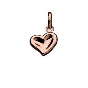 18K Rose Gold Vermeil Thumbprint Heart Charm-