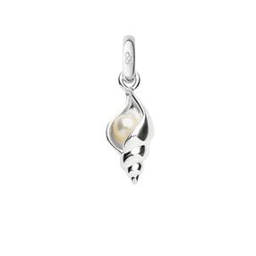 Charm Αχιβάδα από ασήμι με μαργαριτάρι-