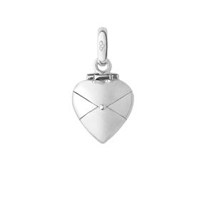 Charm Φάκελος- Καρδιά από ασήμι-