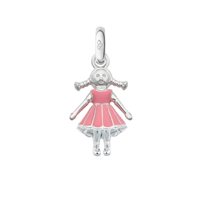 Sterling Silver Girl Charm-