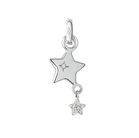 18kt White Gold Wish Upon a Star Charm-