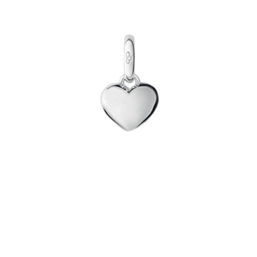 Keepsakes Sterling Silver Mini Slim Heart Charm-