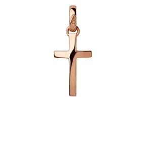 Charm Σταυρός από ροζ χρυσό 18 καρατίων-