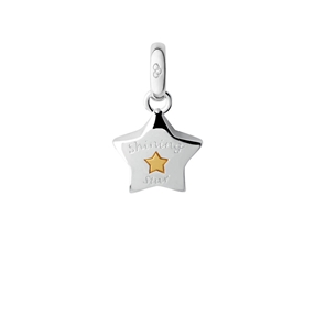 Sterling Silver Shining Star Charm-