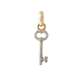 18kt Yellow Gold & Diamond Key Charm-