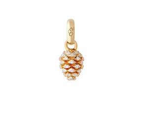 18kt Yellow Gold & Diamond Pinecone Charm-