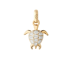18kt Yellow Gold & Diamond Turtle Charm-