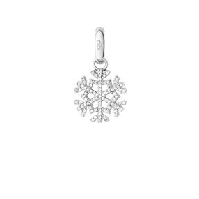 Sterling Silver & Diamond Pave Snowflake Charm-