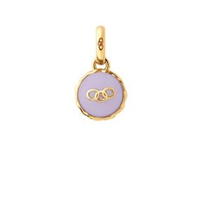 18kt Yellow Gold Vermeil Lavender Macaron Charm-