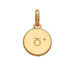 18kt Yellow Gold Vermeil Taurus Zodiac Charm-