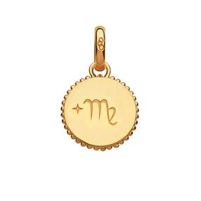18kt Yellow Gold Vermeil Virgo Zodiac Charm-