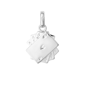 Sterling Silver Poker Cards Charm-