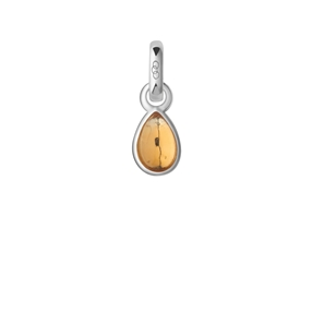 Citrine & Sterling Silver November Mini Birthstone Charm-