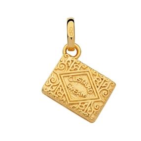 18kt Yellow Gold Vermeil Custard Cream Biscuit Charm-