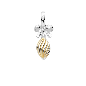 Sterling Silver & 18K Yellow Gold Vermeil Drop Bauble Charm-