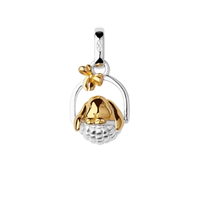 18K Yellow Gold Vermeil & Sterling Silver Bunny Charm-