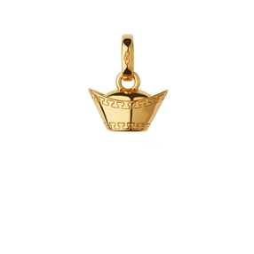 18K Yellow Gold Vermeil Sycee Charm-