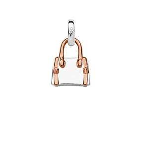 Sterling Silver & 18kt Rose Gold Vermeil Handbag Charm-