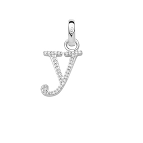 Sterling Silver & Diamond Letter Y Alphabet Charm-